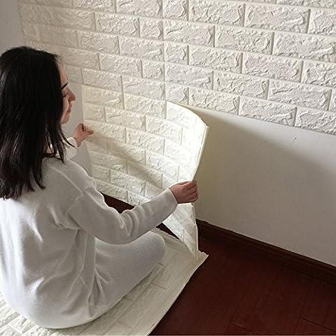 Adesivi 3D Creative auto modello adesivo carta da parati carta da parati camera da letto decorazione soggiorno TV sfondo muro mattoni impermeabilizzazione ,