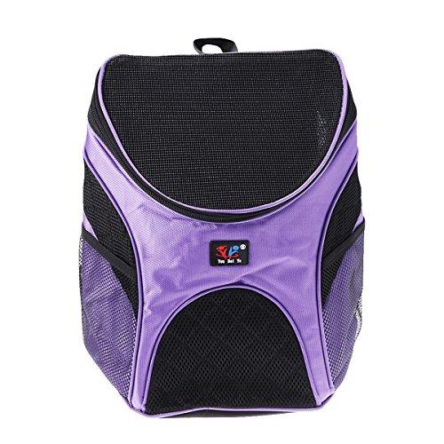 UKCOCO Portabler Rucksack für Haustiere, Reiserucksack für Hunde und Katzen, Wandern, Größe S (Violett)