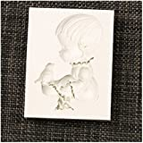 1 Stück Baby und Vogel DIY Formen für Hochzeit Cup Kuchen Dekoration Silikonform Eiswürfel Fondant Gießform Silikon für Kuchen Backen Schokoladen Seife Gelee Muffin