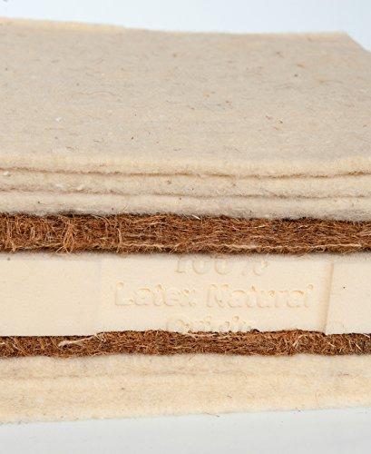 Asa Matratzen Schafschurwolle-Kokos-Latex–Futon: 3 Lagen Schafschurwolle/2 Lagen Kokosfaser/1 Lage Naturlatex 4cm …