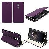 Etui luxe Sony Xperia XA2 Ultra violet Slim Cuir Style avec stand - Housse coque de protection Sony XA 2 Ultra 4G 2018 violette Dual Sim - Prix découverte accessoires pochette cover XEPTIO : Exceptional case !