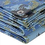 Vele parasole CJC Telone, PVC Camuffare Impermeabile Coltello Raschiante Protezione Solare Foglio di Teloni Arredamento da Giardino Awnings (Color : Blue, Size : 5x8m)