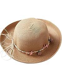 Sombreros Mujeres Playa Sombrero para El Sol Al Aire Libre Basic Reloj De  Sol Plano A Lo Largo De Sombreros Plegables De Protección… bef0ae8e88a