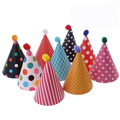 Ishua Party Hüte, Party Cone Hüte, schöne Kuchen Cone Geburtstag Papier Hüte, schöne Krone, für Kinder und Erwachsene 11 Stück