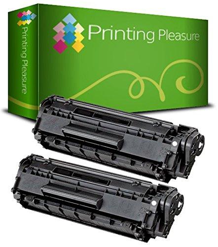 Printing Pleasure 2er Set Premium Toner Schwarz kompatibel für Canon LBP800, LBP810, LBP1110, LBP1100SE, LBP1120, LBP200, LBP250, LBP350, LBP5585, HP Laserjet 1100, 1100A, 1100XI, 3200, 3200M, 3200SE - Hp Drucker 92 Patrone
