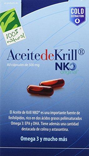 100% natural Aceite Krill Nko Omega 3-80 Cápsulas