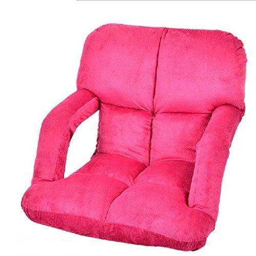 Nichtstuer Faules Sofa Single Sessel Rückenlehnenstuhl Einstellen Computerstuhl Klappstuhl Liegestühle Balkon Mittagspause Sofa Lounge-Sessel 92 * 58 cm (Farbe : Rose Rot) (Liege-farbe Ergonomische Leder)