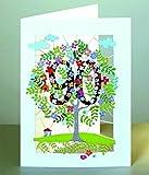 90 Geburtstag Laser Cut Karte 3D Geburtstagskarte Blumen Lebensbaum 16x11cm