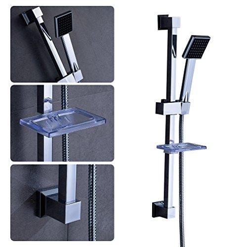 Auralum Duscharmatur Duschset Duschsystem mit Handbrause und Seifenschale Type D
