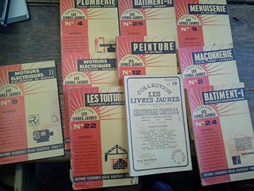 Lot de 10 les livres jaunes batiment peinture menuiserie plomberie maçonnerie... -
