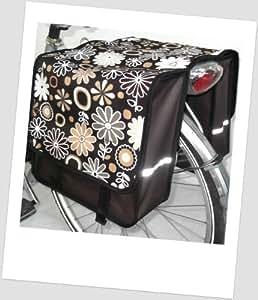 T-jOY-sacoche de selle 14 kinderfahrradtasche jOY flower brown sacoche de vélo 2 x 5 l pour enfant