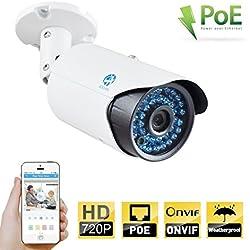 JOOAN 720P Bullet IP Kamera PoE-Kamera HD CCTV-Überwachungskamera Wetterfestes Sicherheit Videoüberwachung Kamera