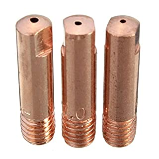 KUNSE 10 Pcs Mb-15Ak M6 Mig/Mag Welding Torch Contact Tip Gas Nozzle 0.8/1.0/1.2Mm-1.0Mm