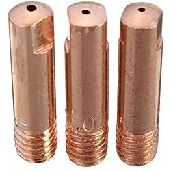 KUNSE 10 Pcs Mb-15Ak M6 Mig/Mag Torche De Soudage Embout De Contact Buse De Gaz 0.8/1.0/1.2mm-1.0mm