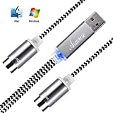 Asmuse™MIDI Kabel to USB 2.0 Interface 5 PIN In Out Konverter mit eingebautem Treiber LED Anzeige leuchte ultra flexibel für E Piano Keyboard Instrument zu PC Laptop Mac Windows 1.9 m