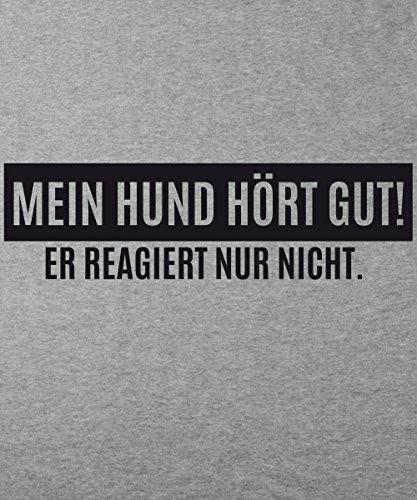 ::: MEIN HUND HÖRT GUT ::: Boys T-Shirt Sports Grey