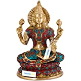 "[Sponsored]Collectible India 9"" Goddess Laxmi Brass Idol Statue 