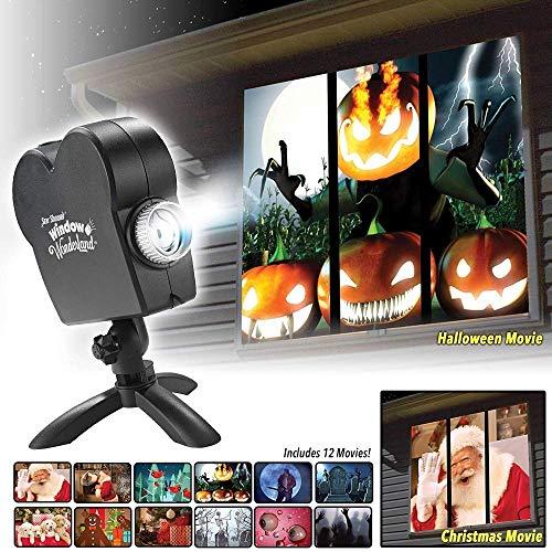 Projektor Lampe, Stern Dusche Fenster Projektor Weihnachtsgeschenk Halloween-Dekoration im Freien Garten, Ihre Fenster wird ein Urlaub Kinoleinwand werden