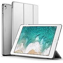 ESR Funda iPad Pro 10.5 con Auto-Desbloquear y Función de Soporte [Ligera] de Cuero Sintético y Plástico Duro Transparente Esmerilado Cover Cáscara para Apple iPad Pro 10.5 Pulgadas -Gris