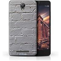 Custodia/Cover Rigide/Prottetiva STUFF4 stampata con il disegno Muratura per Xiaomi Redmi Note 2 (Prime) - Verniciato/grigio