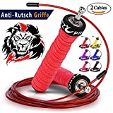 AMZOON Springseil Fitness Springseile Skipping Rope Crossfit Kugellager Anti-Rutsch Griffe