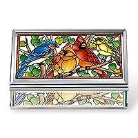 صندوق مجوهرات مصنوع يدويًا من الزجاج من أميا سونغبيرد - متعدد الألوان