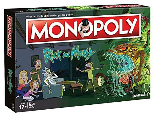 Buch Comic Männer Kostüm - Monopoly - Rick and Morty - Deutsch - 6 Sammler Spielfiguren | Gesellschaftsspiel | Brettspiel