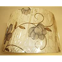 GREY-BLUE floreale lampada da tavolo paralume