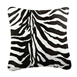 rucomfybeanbags Luxus Fauxveloursleder Animal Print 40Cm Kissen - Zebra