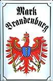 Blechschild Nostalgieschild Mark Brandenburg Adler Wappen retro Schild Wappenschild