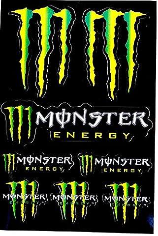 Autocollants Stickers Monster Feuille de 8 Stickers