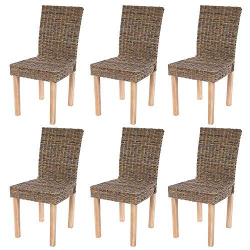 Lot de 6 chaises de s?jour Littau chaise en osier,, occasion d'occasion  Livré partout en Belgique