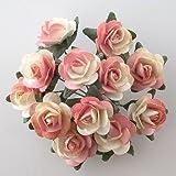 Rose ibride di Tea di carta, colore: pesca, confezione da 144 pezzi