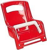 Lena 61168 - Gepäckträger Sitz für Puppen ca. 27 cm, 2 fach farblich sortiert, Puppensitz für Gepäckträger von Kinderfahrrädern, Puppenzubehör für Transport der Lieblingspuppe, Zubehör für kleine Puppenmuttis