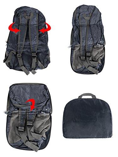 Artall leggero Packable zaino impermeabile pieghevole zaino per viaggi all' aperto e sport, borsa zaino pieghevole portatile, 20litri, Dark Blue Dark Blue
