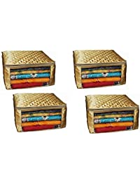 Fancy Walas™ Saree Cover Extra Large Size In Golden Quilted Satin (With Capacity Of Upto 15 Sarees) - B07D6SS72R