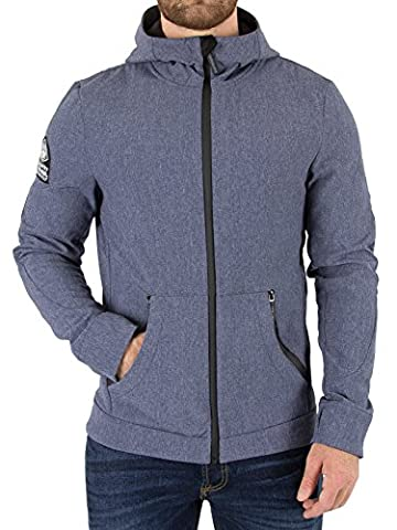 Superdry Homme Mountaineer Softshell Jacket, Bleu, X-Large