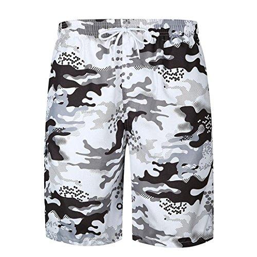 Yesmile pantaloni da spiaggia, costume da bagno uomo pantaloncini uomo estate nuotare tronchi veloce spiaggia asciutta fitness in esecuzione pantaloncini da coppia (xxl, multicolor3)