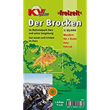 Brocken / Nationalpark Harz: 1:25.000 Freizeitkarte mit Wanderwegen, Wintersportmöglichkeiten und Informationsteil zum Nationalpark (KVplan-Freizeit-Reihe / http://www.kv-plan.de/reihen.html)