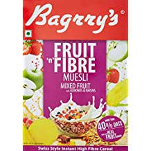 Bagrrys Fruit N Fibre Muesli, Mixed Fruit, 500g