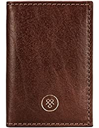 Maxwell-Scott® Luxury Handmade Italian Full Grain Leather MINI Pocket Address Book (The Caldana)