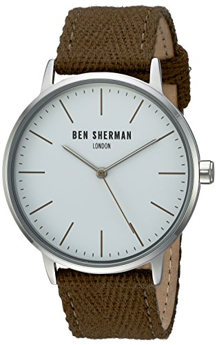 ben-sherman-wb009gr-reloj-de-pulsera-hombre-tela-color-verde