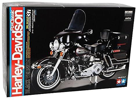 Harley Davidson FLH Classic 16037 Kit Bausatz 1/6 Tamiya Modell Motorrad mit individiuellem (Bausatz Harley Davidson)
