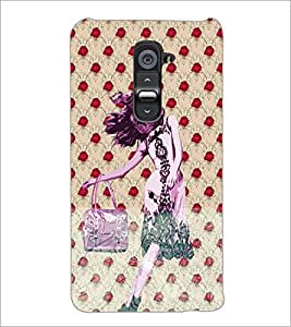 PrintDhaba Cute Girl D-3882 Back Case Cover for LG G2 (Multi-Coloured)