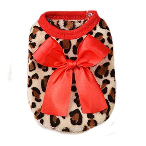 Haustiere Kleidung, Transer® Weihnachts Pets T-Shirts Hunde Mäntel und Jacken mit Schleife Knoten, verziert Apparel Cute Kleidung für Puppy Kleid bis Hunde (Womens Kostüm Elf Cute)
