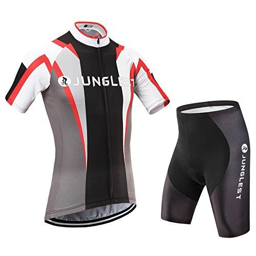 2015M [Type:Ensemble taille:M] air Maillot Cyclisme Set séchage respirant de rembourré Sport manches plein élasticité Vêtements pantalon rapide et cuissard cyclisme courtes