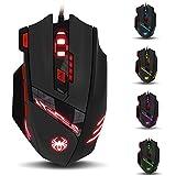 Zelotes von ECHTPower Gaming Maus, Profi 9200 DPI Optical 8 Tasten LED Gaming Mouse Gamer Maus für Pro Gamer