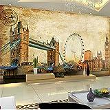 Guyuell 3D Wallpaper Benutzerdefinierte Vintage Ölgemälde Gebäude Foto Wand Wohnzimmer Sofa Tv Hintergrund Wand Wohnkultur Wandbild Papel De Parede-300Cmx210Cm
