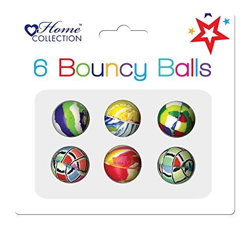 Unbekannt Shop inc Packung mit 6 Sortierte Farbe Bouncy Balls - Partei-Beutel Füllstoffe