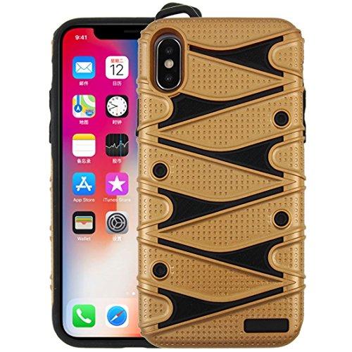 GHC Cases & Covers, Für iPhone X PC + TPU 2 in 1 Y geformter abnehmbarer stoßsicherer schützender rückseitiger Fall (Color : - Speck Handy Brieftasche